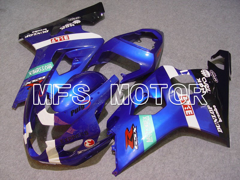 For Suzuki GSX-R 600/750 2004-2005 K4 Injection ABS Fairing Blue/White/Black hot sales promotion blue white for suzuki gsxr1000 05 06 gsx r1000 2005 2006 gsxr 1000 k5 abs moto fairing injection molding