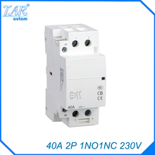AC 220 / 240V Coil 40A 1NO 1NC 2 Pole 2P Household AC Contactor Modular 35mm DIN Rail Mount 40Amp rated current 40a 3poles 1 nc 1no 48vac coil voltage ac contactor motor starter relay din rail mount