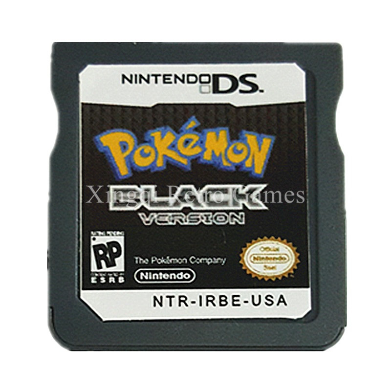 Nintendo NDS Game Pokemon Black Video Game Cartridge Console Card US English Language Version