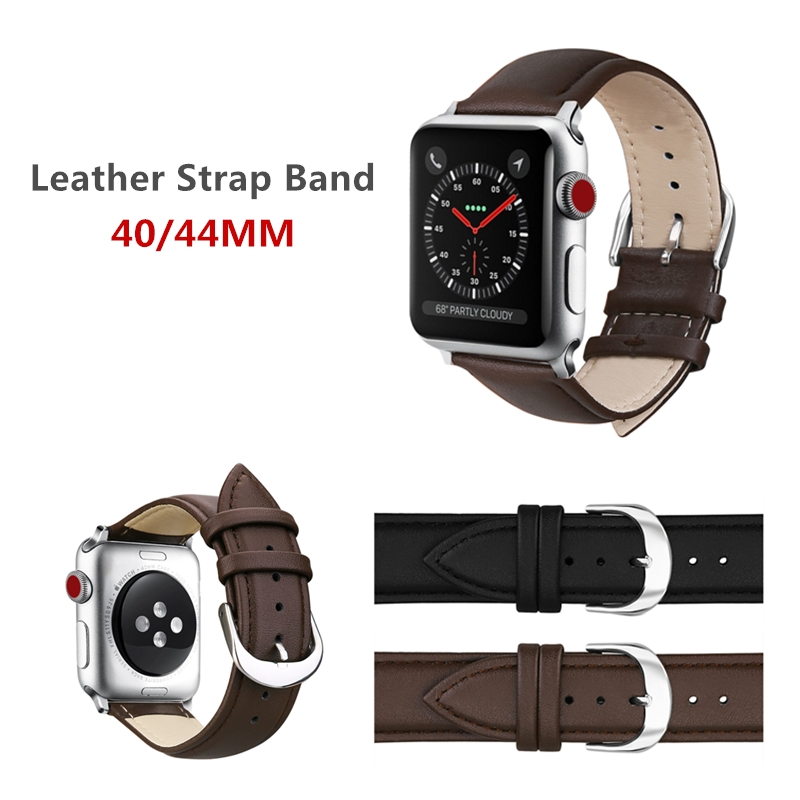 New Design Watch Accessories Leather Loop Watchband For Apple Watch 4 Bands 40MM & Apple Watch Strap 44MM iWatch 4 Bracelet