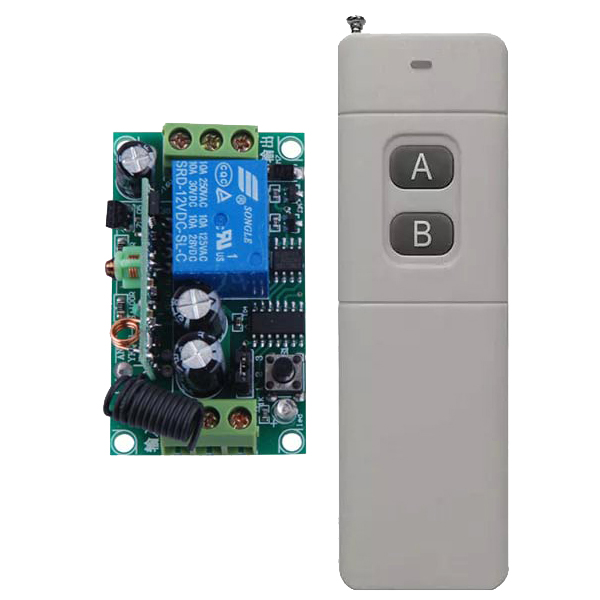 3000m Long Range Remote Control Switch DC 12V 1 CH 10A Relay Receiver Transmitter Learning Light Lamp Wireless Switch 315/433Mhz 315 433mhz 12v 2ch remote control light on off switch 3transmitter 1receiver momentary toggle latched with relay indicator