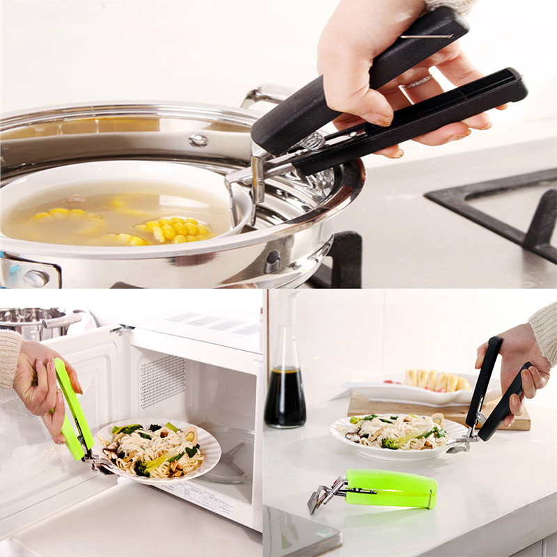 Stainless Steel Camping Picnic Pot Pan Bowl Gripper Clip Hand Clamp Tool Kitchen