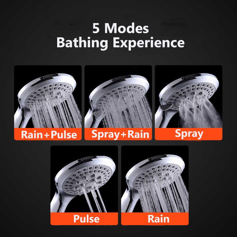 張智 5 モード上のノズルシャワークラシックデザイン 110 ミリメートルシャワーヘッド手すり降雨浴室パワーフィルターシャワーヘッド