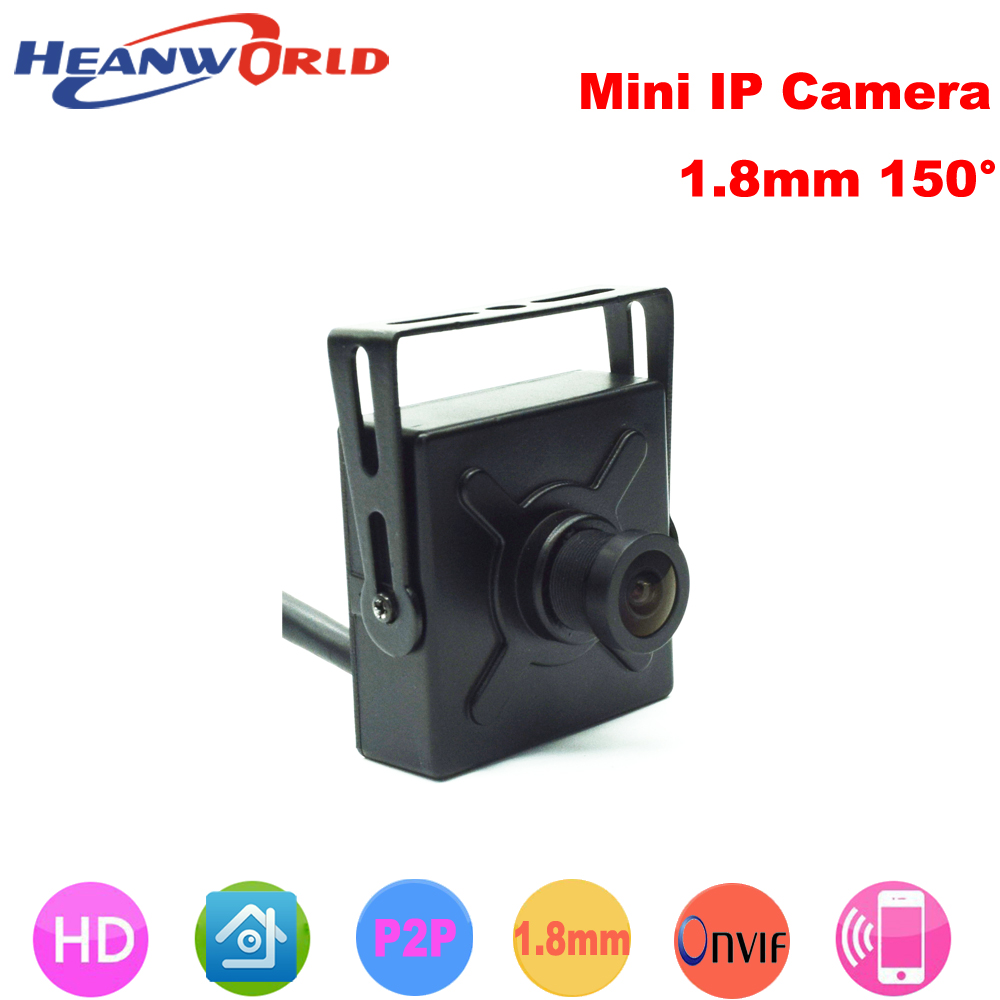 Heanworld Wide Angle 1.8mm lens HD 720P/960P/1080P IP camera Mini Network Home Security Surveillance Smart ip Camera ONVIF