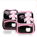 New Korean Style Children's School Bags Cat Cute Female Child Double Shoulder Bag With Bow Girls Boys Cartoon Kids Polyester Bag