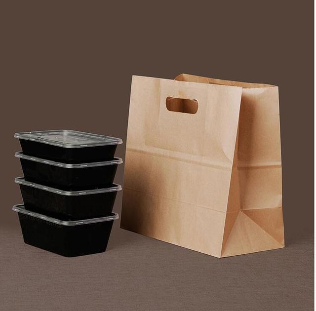 Us52 7kraftpapier PapierSnack Bag Tas50 Handtas Kraft In Stkspartij Fruit Hand Afhalen Kraftpapier Dessert Verpakking 4jLA5R3q