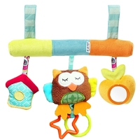 Baby Rattle Ring Bell Baby Plush Owl Elephant Frog Anmail Lathe Hanging Musical Baby Toy For