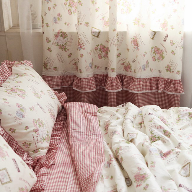 Awesome Free Shipping Vintage Rustic Ruffle Lace Floral Bedding Sets/plain Duvet  Cover Set,twin Queen King ,free Shipping In Bedding Sets From Home U0026 Garden  On ...