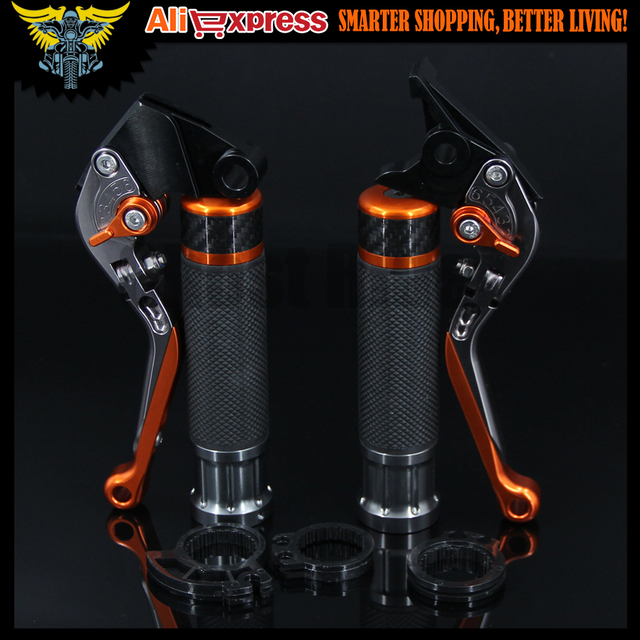 Motorcycle CNC Brake Clutch Levers and  Handlebar Hand Grips Handle Grip For KTM 390 Duke/RC390 2013 2014 2015 2016