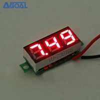 Small 0.28 Inch 2.5V-30V Mini Digital Voltmeter Voltage Tester Meter 5 Colors Red/white/blue/green/yellow
