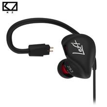 KZ ZS3 Ergonómico Desmontable Cable del Auricular En la Oreja Monitores Con Aislamiento de Ruido de Alta Fidelidad de Audio de Música Deportes Auriculares Con Micrófono
