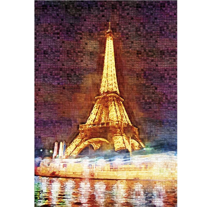 Novi proizvod obrazovne igračke Eiffelov toranj 3D drveni papir - Igre i zagonetke - Foto 2