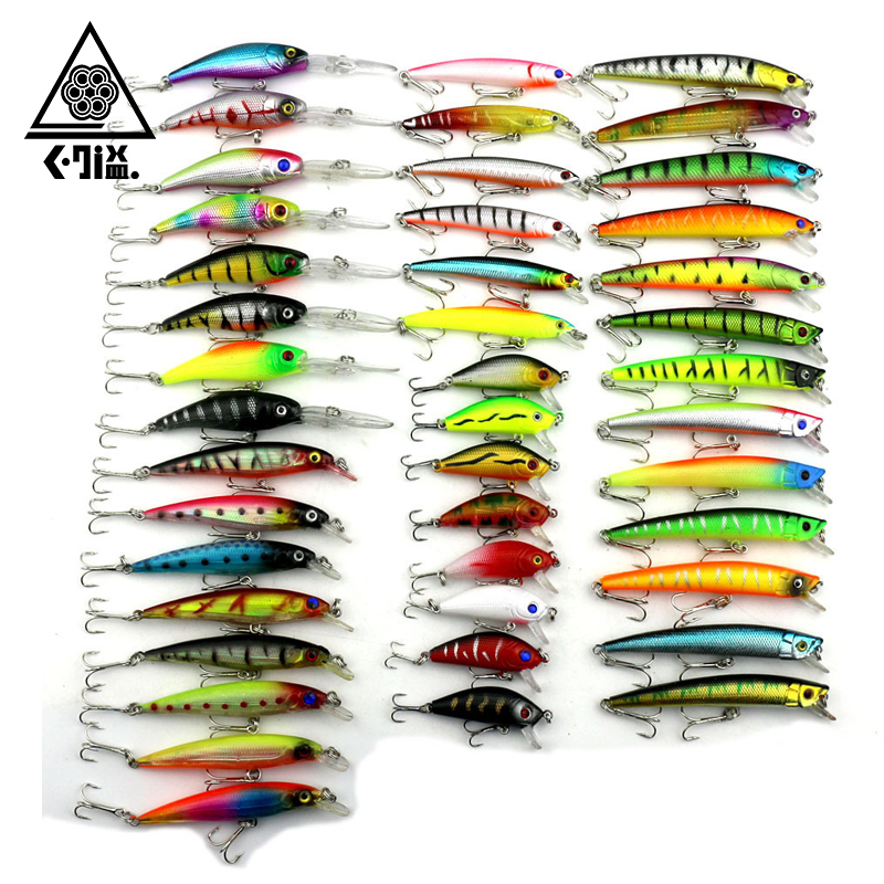 43 Pcs/Pack 6 Style Minnow Fishing Lure 3D Fish Eye Minnow Hard Plastic Fishing Wobbler Artificial Bait Fishing Accessories allblue suspend minnow 70mm 6 5g 1m dive artificial bait plastic hard 3d eyes fishing lures wobbler fishing bait fishing tackle