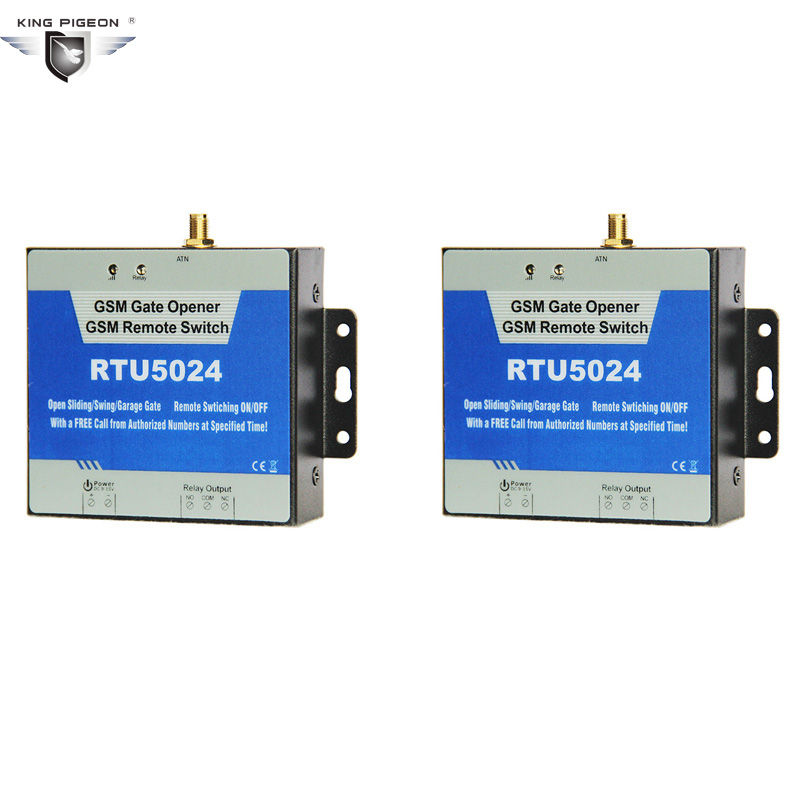 RTU5024 2pcs Direct Factory GSM Gate Opener Relay Remote Switch Control Fpr Wireless Door Open Light Fan Air Conditioner arduino atmega328p gboard 800 direct factory gsm gprs sim800 quad band development board 7v 23v with gsm gprs bt module