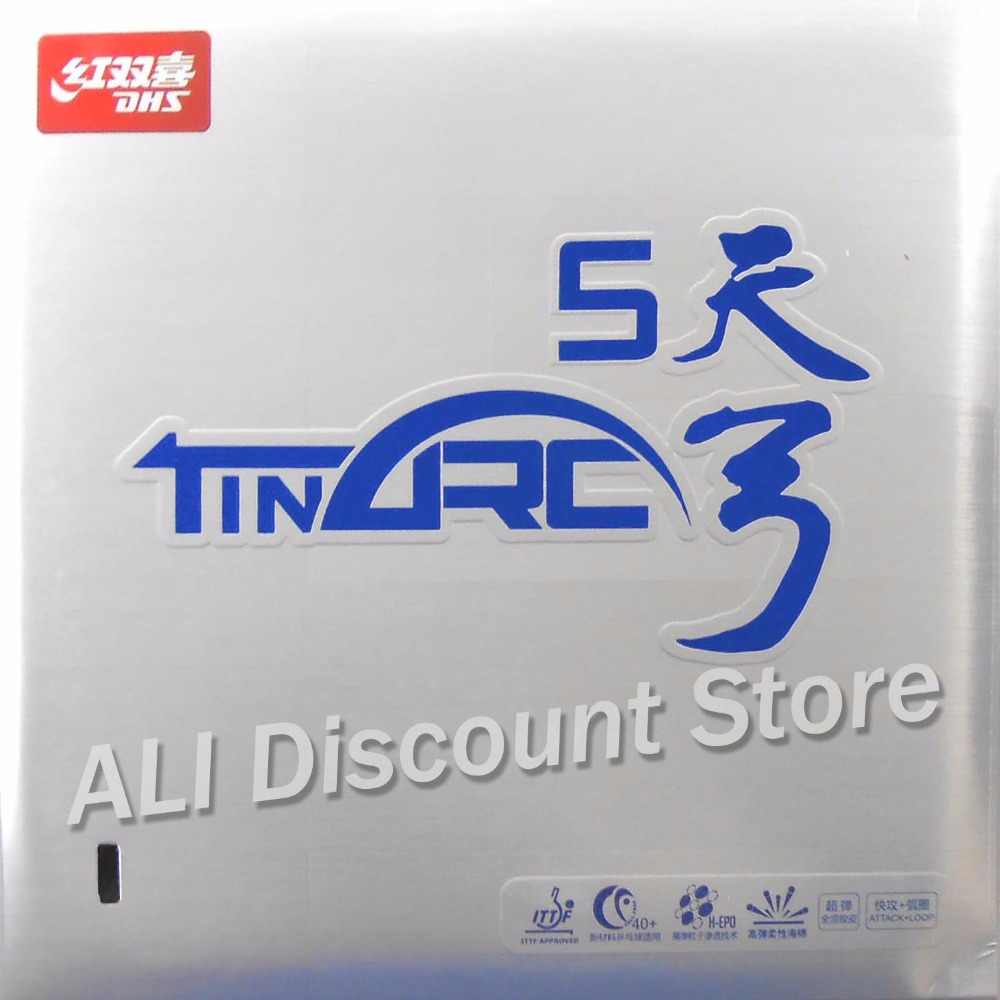 DHS TinArc5 Super-Elasticity  Non-Tacky Pips-in Table Tennis PingPong Rubber With Sponge