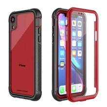 Купить с кэшбэком ImpactStrong Ultra Protective Case with Built-in Clear Screen Protector Clear Transparent Full Body Cover for iphone xr case