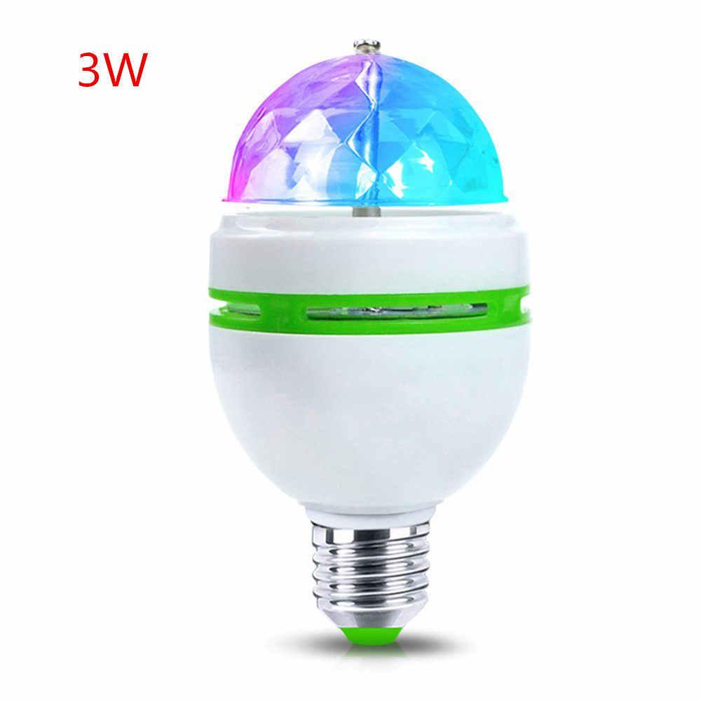 1 יחידות 3 W 6 W RGB LED מנורת E27 AC 110 V-220 V אוטומטי הנורה מסתובב שלב כדור קסם אורות לבית קישוט ריקוד מסיבת DJ