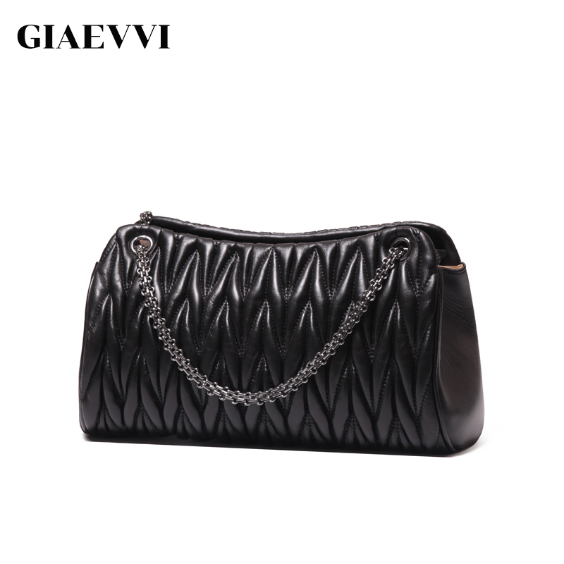 GIAEVVI luxury handbags women messenger bags fashion genuine leather handbag crossbody designer tote shoulder bag high quality