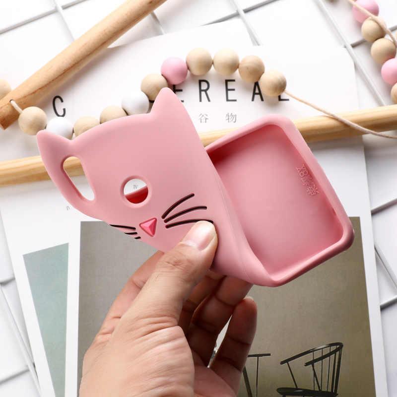 電話かわいい猫耳シリコンケース Huawei 社の名誉 8X ケースのためのソフト TPU 保護カバー Coque ビュー 10 lite バンパー Funda
