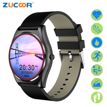 Zucoor Смарт-часы с импульсным Мониторы SmartWatch сердечного ритма Фитнес Часы Беспроводные устройства шагомер Mujer Reloj для Android