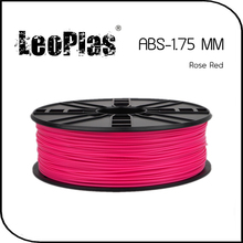 Worldwide Fast Delivery Direct Manufacturer 3D Printer Material 1 kg 2.2 lb 1.75mm Rose Red ABS Filament