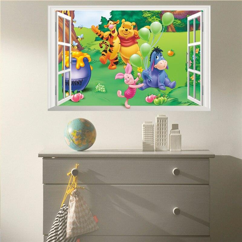 Cartoon Winnie Pooh Wandaufkleber Für Kinderzimmer Kinder Zimmer ...