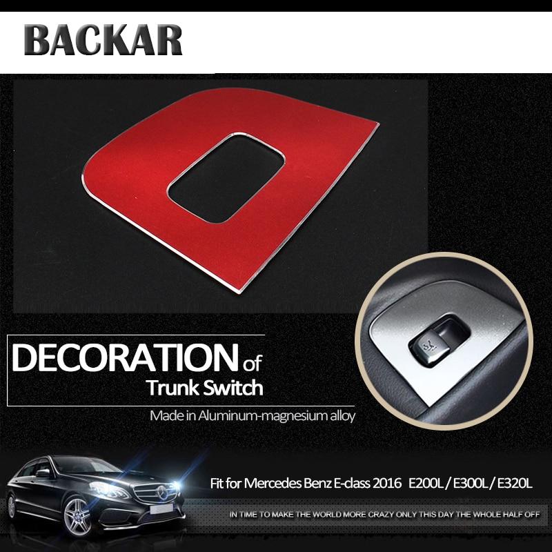 Carbon Fiber Trunk Open Button Cover For Mercedes Benz W213 E Class LHD 2017