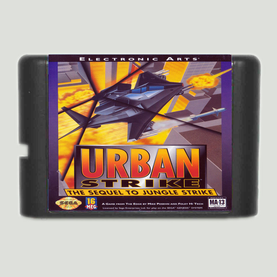 Urban Strike 16 bit MD Game Card For Sega Mega Drive For Genesis