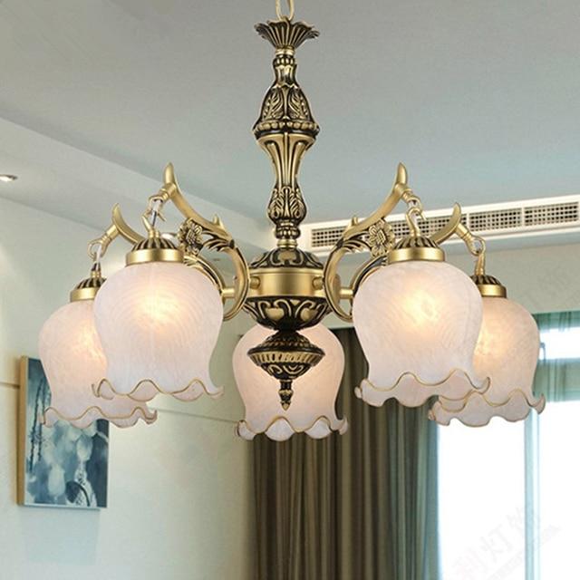 Neue Heiße echtem zink vintage schlafzimmer lampe LED Kronleuchter lichter  Top neuheit Indoor Lichter hochzeit dekoration küche licht