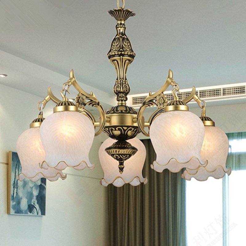 New Hot genuine zinc vintage bedroom lamp LED Chandelier lights Top novelty Indoor Lights wedding decoration kitchen light
