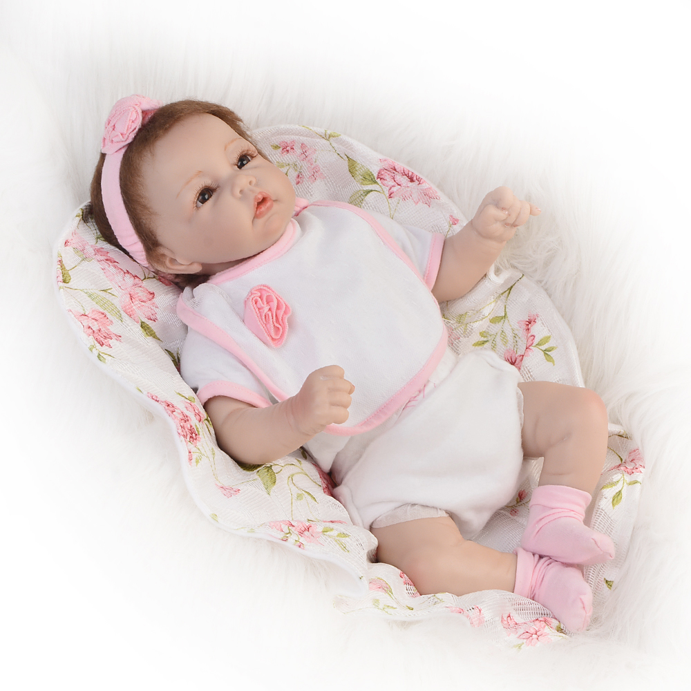 все цены на Special 20'' Reborn Baby Dolls Toy Realistic Silicone Baby Doll 1/2 Cloth Body 50 cm Lifelike Girl Model Babies For Toddler