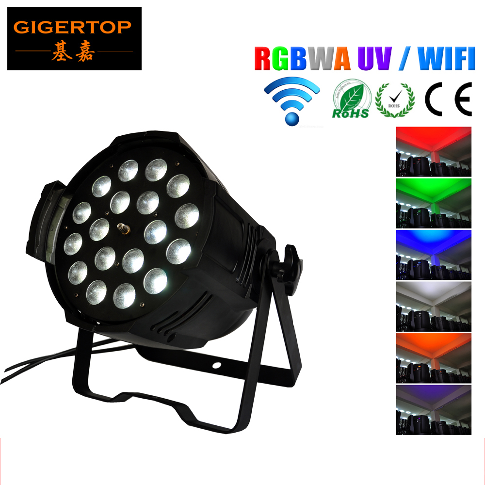 TIPTOP TP-P80B 18X18W RGBWA UV 6IN1 Wireless Led Zoom Par Light Silent Zoom Movement DMX/Auto/Sound/Mater-slave 2.4G Antenna