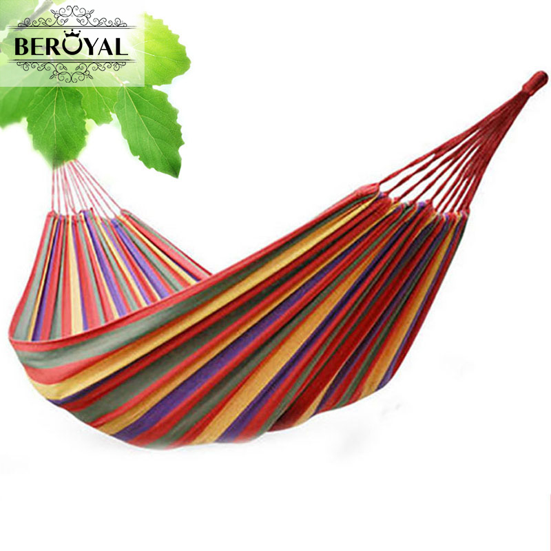 New 2017 Portable Hammock Stripe Outdoor Camping Travel Hiking Hammock Strap for Single Person size 240*150cm Handing Bed 2 people portable parachute hammock outdoor survival camping hammocks garden leisure travel double hanging swing 2 6m 1 4m 3m 2m