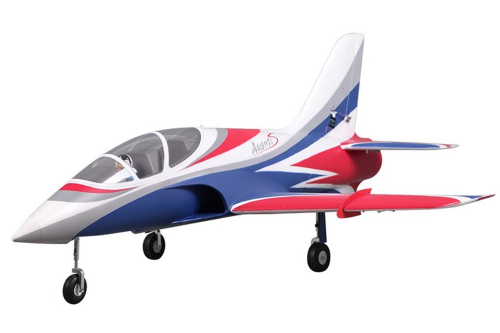 цена на FMS RC Airplane Avanti Blue 70mm Ducted Fan EDF Jet High speed Big Scale Model Plane Aircraft PNP 6S Wingspan 900mm with Retract
