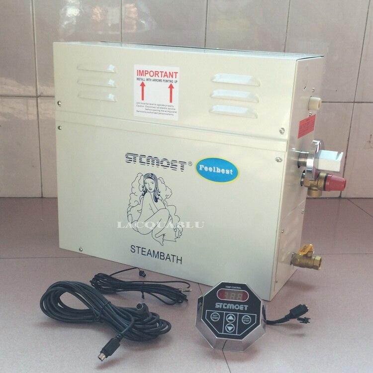9KW Generatore di Vapore per Doccia 220 V/380 V Casa Sauna Macchina A Vapore Da Bagno SPA Doccia A Vapore con Digitale controller