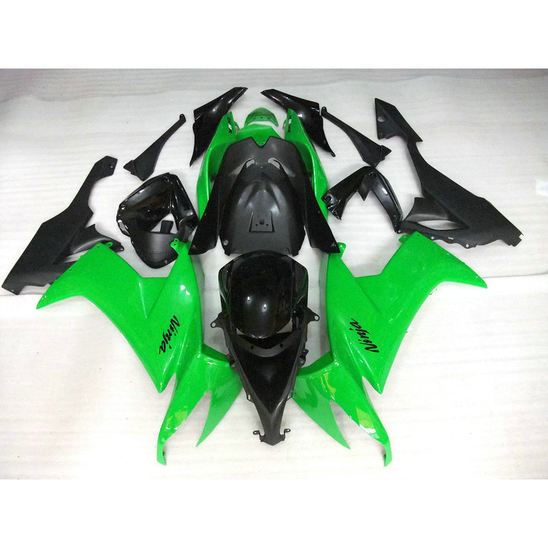 Motorcycle ABS plastic factory fairing KIT for 2008 2009 2010 Kawasaki ZX10R green black bodywork Fairings Ninja ZX-10R 08 09 10 abs plastic fairings for kawasaki ninja zx6r 2005 2006 green black motorcycle fairing kit zx6r 05 06 ty32