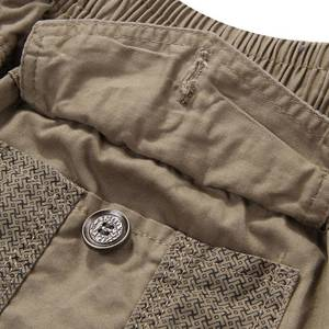 Image 5 - summer mens safari style cargo Shorts pocket cotton plus size 6XL 7XL 8XL man casual Elasticated waist shorts Stretch khaki 46