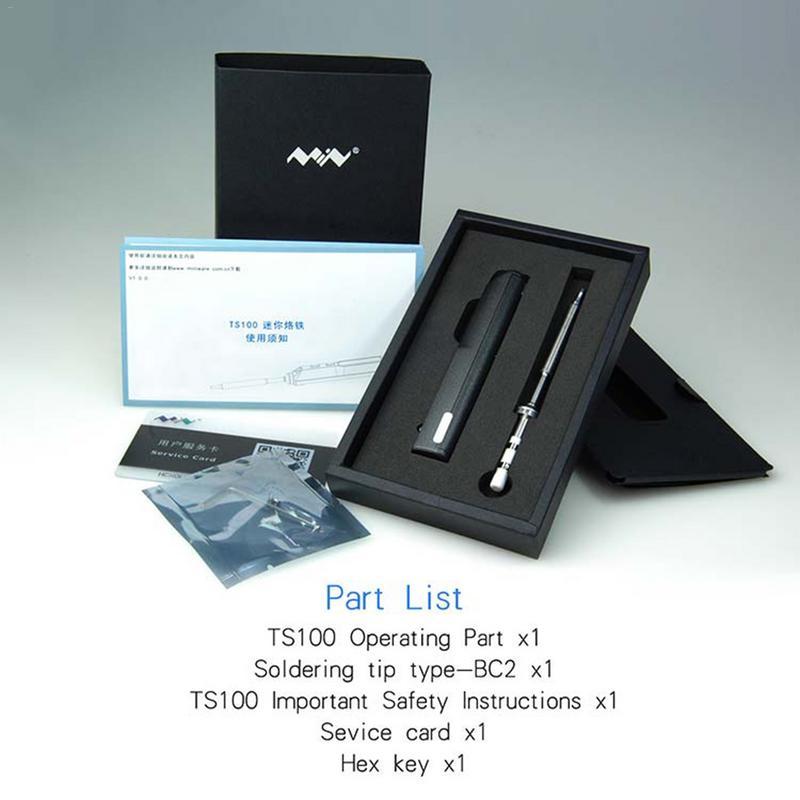 Портативный цифровой ЖК-дисплей Электрический паяльник TS100 сварочная головка Мини 65 Вт программируемый постоянного тока сварочной головки