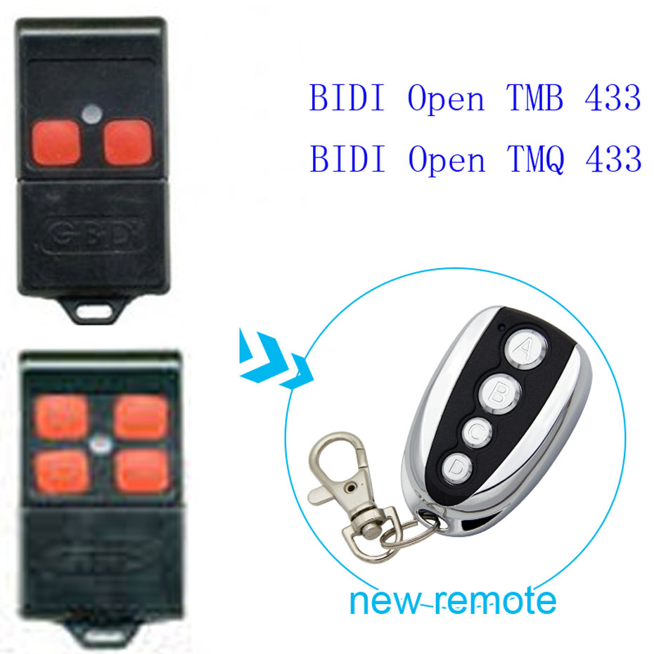 GIBIDI Open TMQ 433 Garage Door/Gate Remote Control Replacement/Duplicator 433mhz GIBIDI Open TMB 433