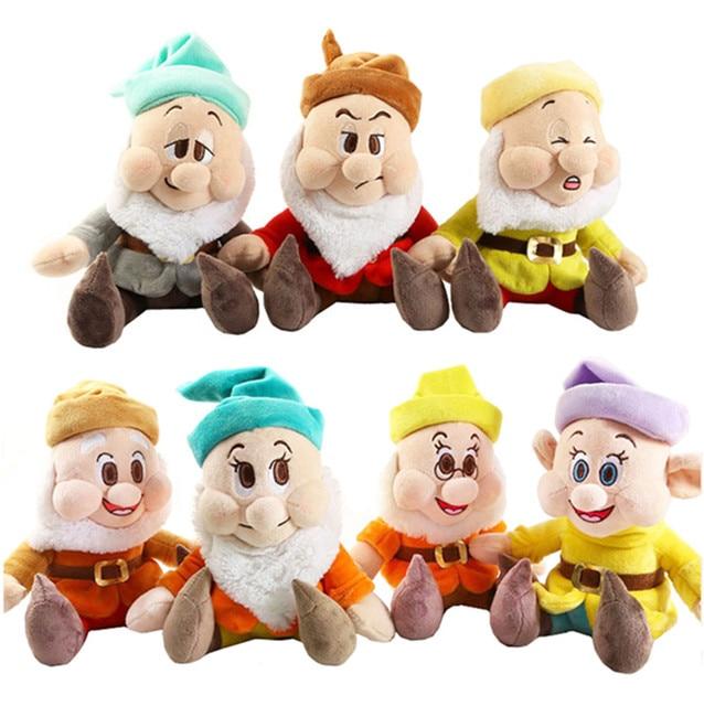 Seven Dwarfsตุ๊กตาตุ๊กตา25ซม.10 Happy Sleepy Sneezy Dopey Grumpy Bashfulของขวัญของเล่นหญิง