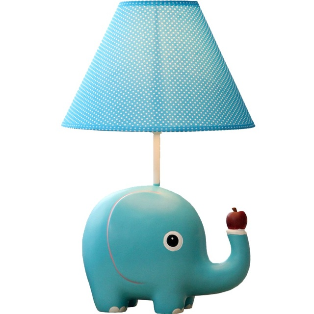 Promotiol New Arrival Resin Kid Sleeping Reading Study Table Lamp Of Linen  Shade For Kidu0027s Room