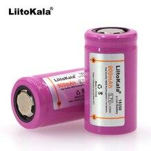 Liitokala batería de litio ICR18350, batería de 900mAh, 3,7 V de potencia, lámparas cilíndricas, batería eléctrica para fumar cigarrillos electrónicos