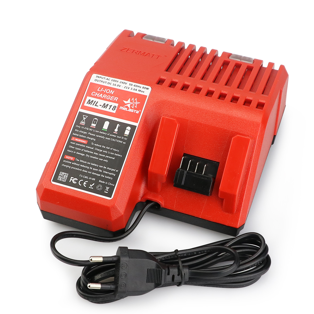 Melasta M18 18V Charger for Milwaukee Li-ion Battery 48-11-1820 48-11-1815 48-11-1840 48-11-1828 power tool accessory lithium ion battery charger 14 4v 18v for milwaukee c18c c1418c 48 11 1815 1828 1840 m18 m14 serise parts