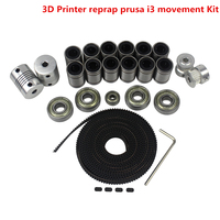 Free Shipping 3d Printer Reprap Prusa I3 Movement Kit GT2 Belt Pulley 608zz Bearing Lm8uu 624zz