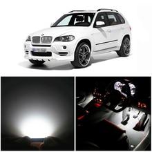 WLJH 20x чистый белый Canbus без ошибок Автомобильный светодиодный купольный туалетный столик для ног светодиодный светильник для интерьера набор для BMW X5-E70 2007-2013