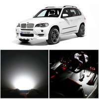 WLJH 20x Pure White Canbus Error Free Car Led Dome Vanity Puddle Footwell LED Interior light Kit for BMW X5 E70 2007 2013