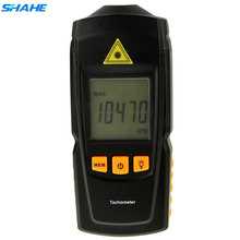 SHAHE Digital Tachometer Electronic Tachometer with Laser Point Speed Measuring Instruments