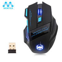 2400 DPI 7 Button Mouse Multi Color LED Optical USB Wireless Mice For Pro Gamer