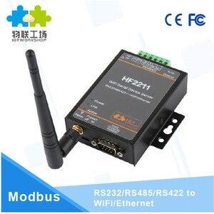 Wifi модуль 2211 промышленный Modbus Серийный RS232 RS485 RS422 к WiFi Ethernet конвертер устройство TCP IP Telnet Modbus 4 м вспышка