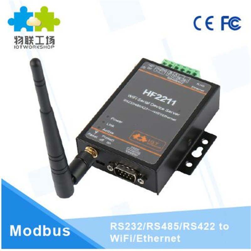 Wifi module 2211 Industrial Modbus Serial RS232 RS485 RS422 to WiFi Ethernet Converter Device TCP IP